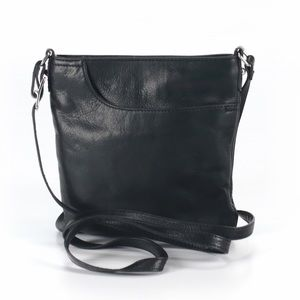 Margot Black Leather Crossbody Bag